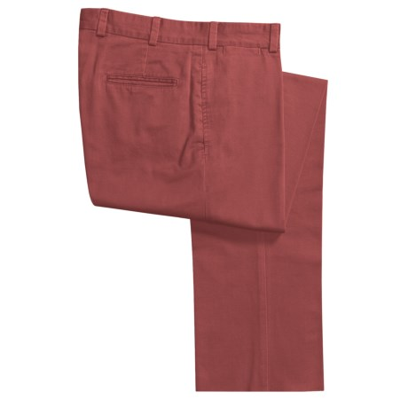 Bills Khakis M2 Vintage Cotton Twill Pants - Flat Front (For Men) in Harvest Red