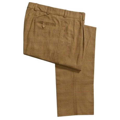Bills Khakis M2P Cotton Flannel Pants - Pleated (For Men) in Grey