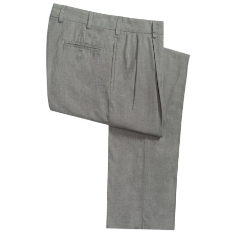 Bills Khakis M2P Cotton Flannel Pants - Pleated (For Men) in Charcoal