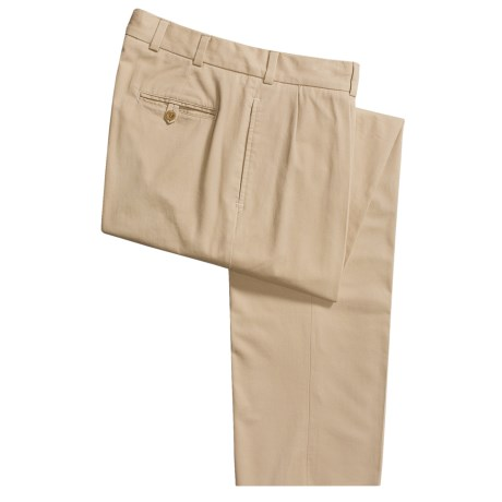 Bills Khakis M2P Driving Twill Pants - Reverse Pleats, Standard Fit (For Men) in Khaki