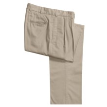 Bills Khakis M2P Tropical Twill Pants - Reverse Pleats, Standard Fit (For Men) in Stone - Closeouts
