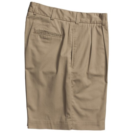 Bills Khakis M2P Tropical Twill Shorts -Reverse Pleat (For Men) in Khaki