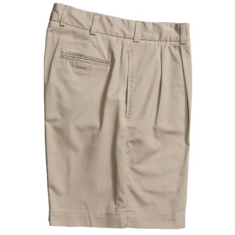 Bills Khakis M2P Tropical Twill Shorts -Reverse Pleat (For Men) in Stone