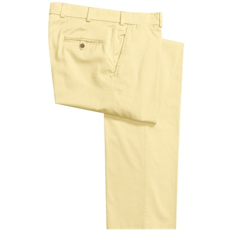 Bills Khakis M3 Chamois Cloth Pants - Flat Front (For Men) in Lemon
