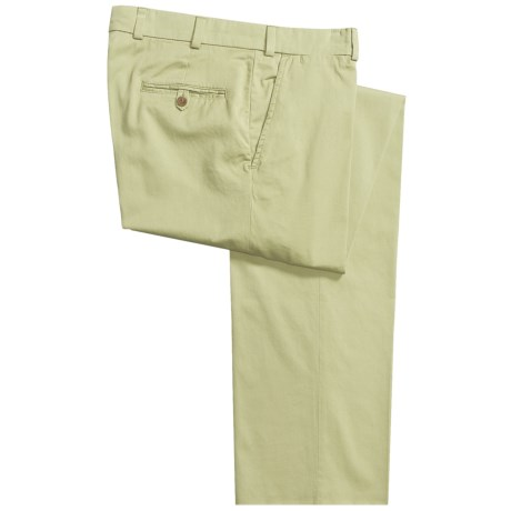 Bills Khakis M3 Chamois Cloth Pants - Flat Front (For Men) in Lime