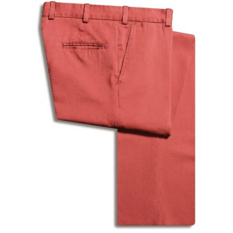 Bills Khakis M3 Vintage Twill Pants - Flat Front, Cotton (For Men) in Weathered Red