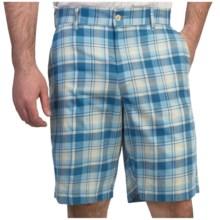 Bills Khakis Madras Plaid Shorts (For Men) in Blue/Cream - Overstock