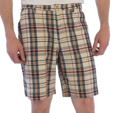 Bills Khakis Madras Plaid Shorts (For Men) in Cream/Navy - Overstock