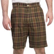Bills Khakis Madras Plaid Shorts (For Men) in Khaki/Navy - Overstock
