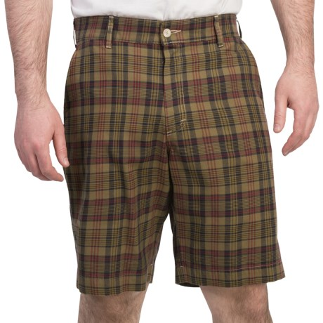 Bills Khakis Madras Plaid Shorts (For Men) in White/Navy