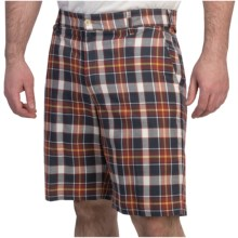 Bills Khakis Madras Plaid Shorts (For Men) in Navy/Red - Overstock