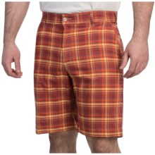 Bills Khakis Madras Plaid Shorts (For Men) in Red/Yellow - Overstock