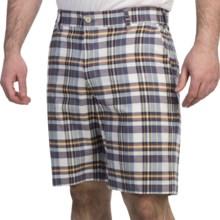 Bills Khakis Madras Plaid Shorts (For Men) in White/Navy - Overstock