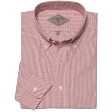 Bills Khakis Narragansett Check Shirt - Long Sleeve (For Men) in Berry - Closeouts