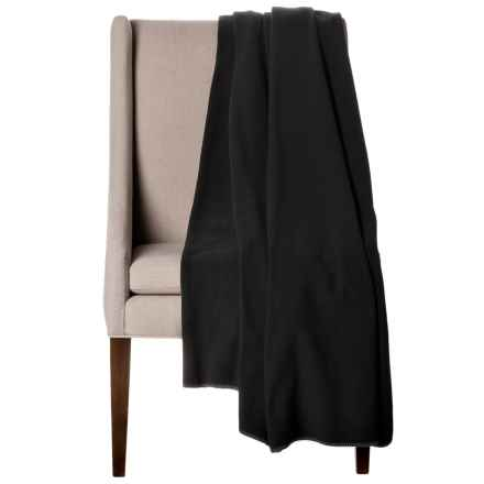 "Bills Khakis Oversized Fleece Throw Blanket - 60x80"" in Black - Closeouts"