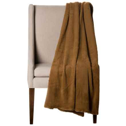 "Bills Khakis Oversized Fleece Throw Blanket - 60x80"" in Khaki - Closeouts"