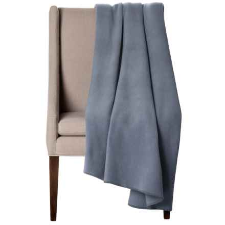 "Bills Khakis Oversized Fleece Throw Blanket - 60x80"" in Slate Blue - Closeouts"