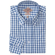 Bills Khakis Oxford Gingham Shirt - Long Sleeve (For Men) in Blueberry - Closeouts