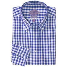 Bills Khakis Oxford Gingham Shirt - Long Sleeve (For Men) in Navy - Closeouts