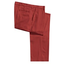 Bills Khakis Parker Island Twill Pants - Flat Front (For Men) in Red - Closeouts