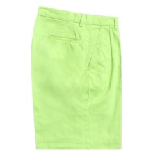 Bills Khakis Parker Island Twill Shorts - Pleated (For Men) in Lime - Closeouts