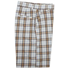 Bills Khakis Parker Long Backbay Plaid Shorts (For Men) in Brown Yellow - Closeouts