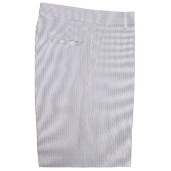 Bills Khakis Parker Micro-Check Shorts - Cotton Seersucker (For Men) in Powder Maize