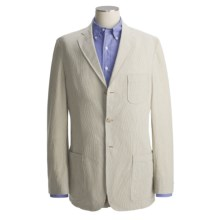 Bills Khakis Pinpoint Seersucker Sport Coat (For Men) in Coffee/Cream - Closeouts