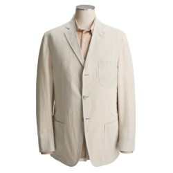 Bills Khakis Pinpoint Seersucker Sport Coat (For Men) in Khaki/Cream