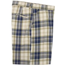 Bills Khakis Retro Plaid Parker Shorts (For Men) in Ivory - Closeouts
