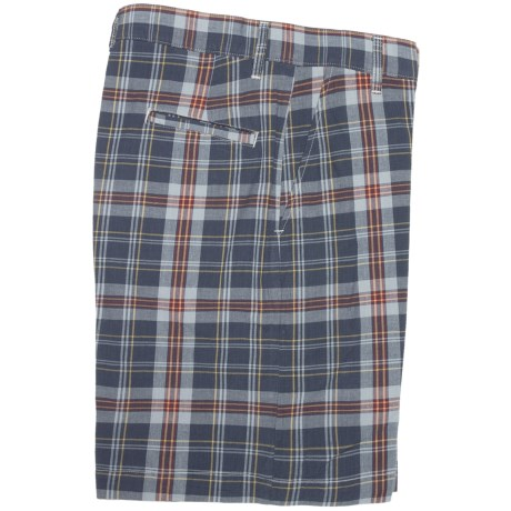 Bills Khakis Retro Plaid Parker Shorts (For Men) in Navy