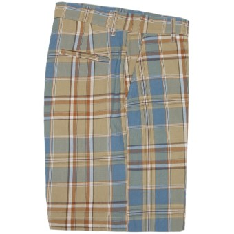 Bills Khakis Retro Plaid Parker Shorts (For Men) in Tobacco