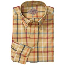 Bills Khakis Robertson Windowpane Shirt - Long Sleeve (For Men) in Honey Gold - Closeouts