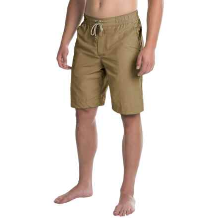 Bills Khakis Solid Boardshorts (For Men) in British Khaki - Closeouts
