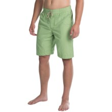 Bills Khakis Solid Boardshorts (For Men) in Green - Closeouts