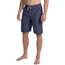 Bills Khakis Solid Boardshorts (For Men) in Navy - Closeouts