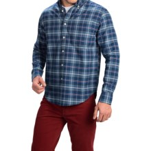 Bills Khakis Standard Issue Glen Plaid Shirt - Classic Fit, Long Sleeve (For Men) in Royal Blue - Closeouts