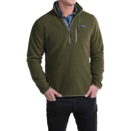 Bills Khakis Standard Issue Heavyweight Fleece Sweater - Zip Neck (For Men) in Dark Olive - Closeouts