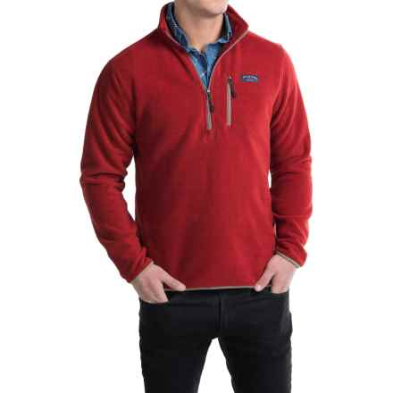 Bills Khakis Standard Issue Heavyweight Fleece Sweater - Zip Neck (For Men) in Red - Closeouts