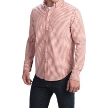 Bills Khakis Standard Issue Mini-Plaid Shirt - Classic Fit, Long Sleeve (For Men) in Orange - Closeouts