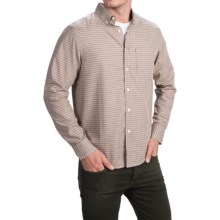 Bills Khakis Standard Issue Mini-Plaid Shirt - Classic Fit, Long Sleeve (For Men) in Tan - Closeouts