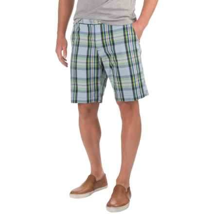 Bills Khakis Standard Issue Parker Plaid Shorts (For Men) in Light Blue - Closeouts