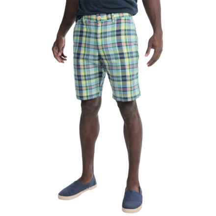 Bills Khakis Standard Issue Parker Plaid Shorts (For Men) in Lime - Closeouts