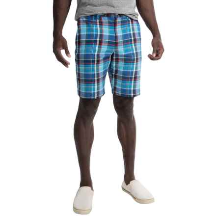 Bills Khakis Standard Issue Parker Plaid Shorts (For Men) in Royal Blue - Closeouts