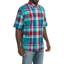 Bills Khakis Standard Issue Plaid Shirt - Button Up, Short Sleeve (For Men) in Blue - Closeouts