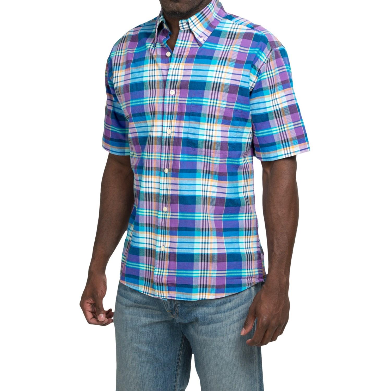 Bills khakis standard issue plaid shirt for men for Khaki button up shirt