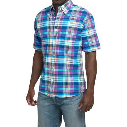 Bills Khakis Standard Issue Plaid Shirt - Button Up, Short Sleeve (For Men) in Purple - Closeouts