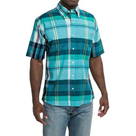 Bills Khakis Standard Issue Plaid Shirt - Button Up, Short Sleeve (For Men) in Teal - Closeouts
