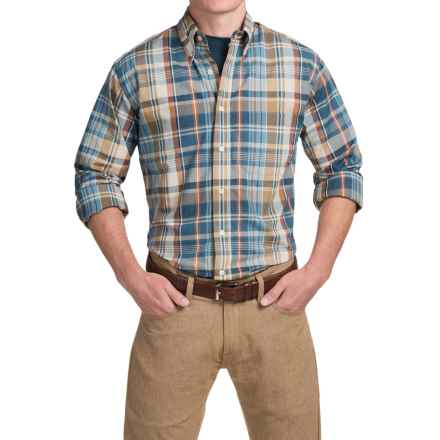 Bills Khakis Standard Issue Plaid Shirt - Long Sleeve (For Men) in Brown - Closeouts