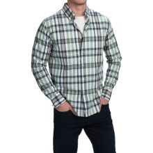 Bills Khakis Standard Issue Plaid Shirt - Long Sleeve (For Men) in Green/Navy - Closeouts